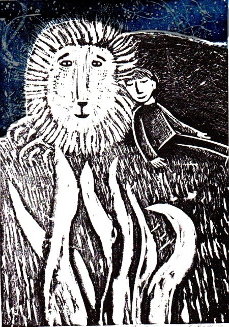 Me and The Night Lion Handmade