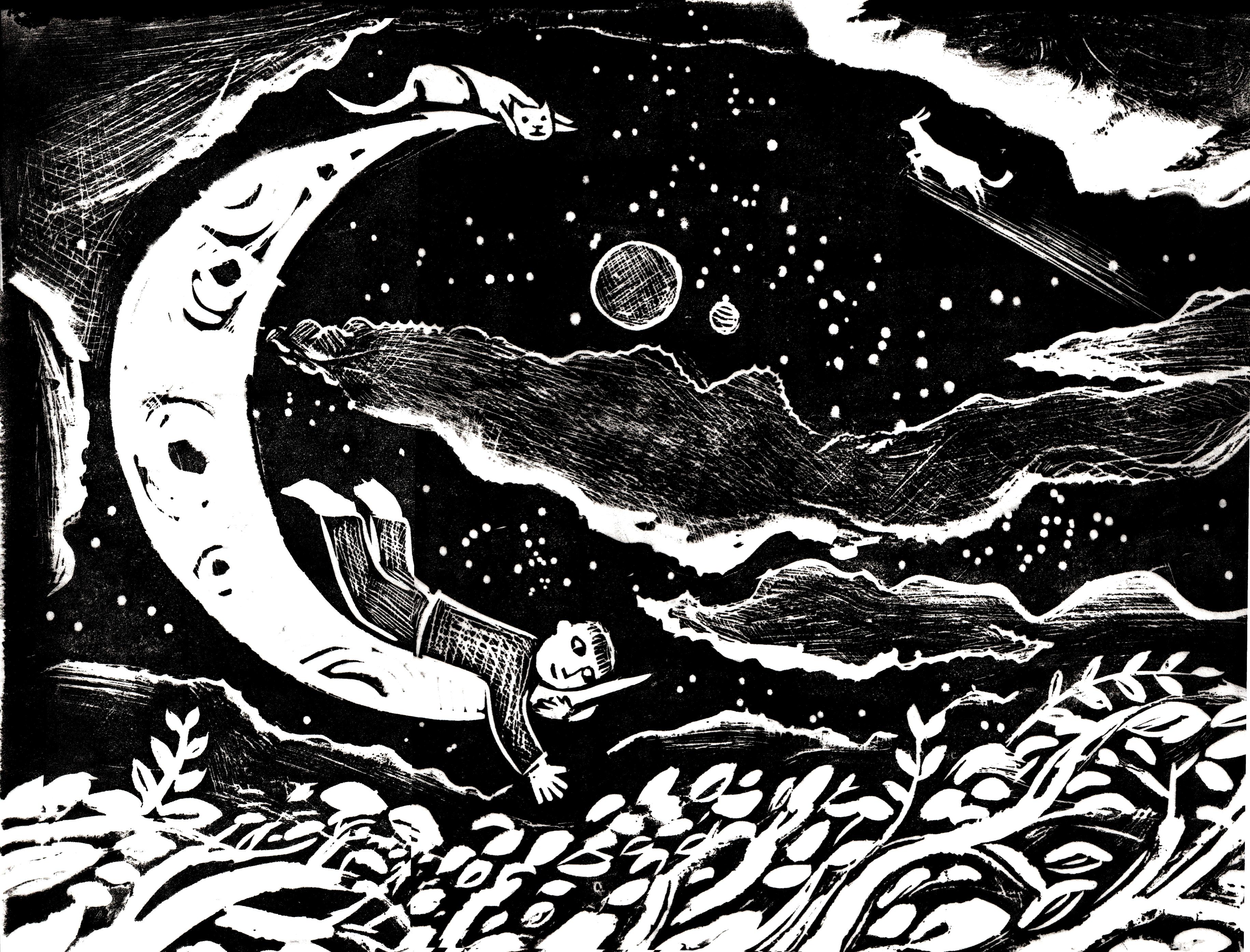 THE Crescent moon PRINT