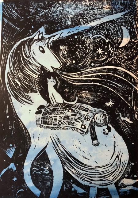 lullaby unicorn print