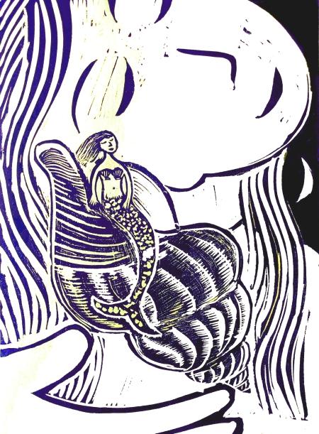 my mermaid sings at night print