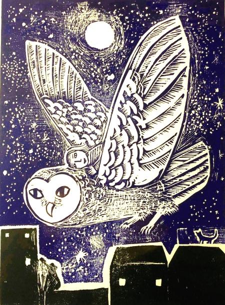 owl flyer print