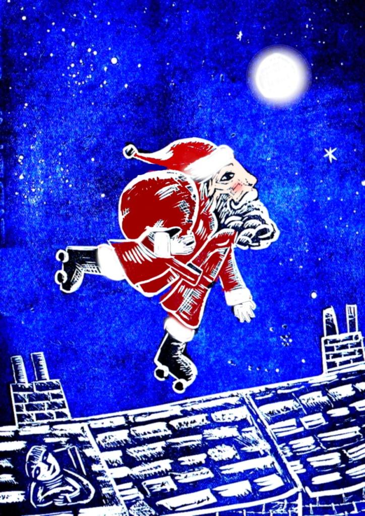 Roller Santa